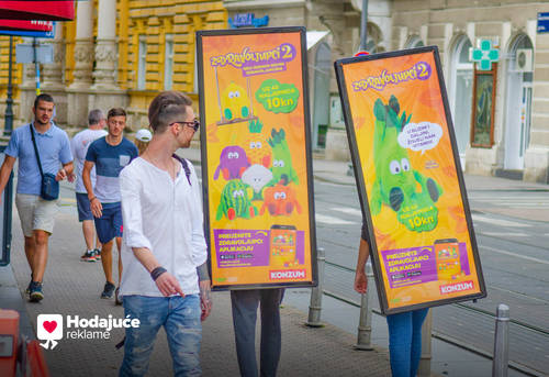 Hodajuće reklame – veliki uspjeh najboljih prijatelja